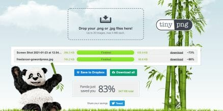 Compressing images will make your page load faster